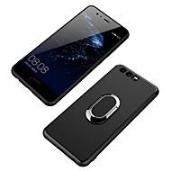 お買い得  携帯電話ケース-ケース 用途 Huawei バンカーリング バックカバー 純色 ソフト TPU のために P10 Plus P10 Lite P10 Huawei