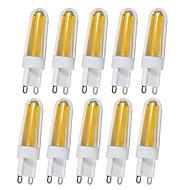 abordables Luces LED de Doble Pin-4W G9 Luces LED de Doble Pin T 4 leds COB Blanco Cálido Blanco 350-390lm 2800-32006000-6500K AC110V