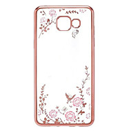 hoesje Voor Samsung Galaxy A5(2017) A3(2017) Strass Beplating Patroon Achterkantje Bloem Zacht TPU voor A3 (2017) A5 (2017) A7 (2017)