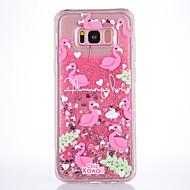 Чехол для samsung galaxy s8 s8 плюс чехол чехол фламинго патч tpu материал полная мягкая любовь флеш-пудра quicksand телефон чехол для s7