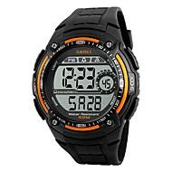 Недорогие Фирменные часы-SKMEI Муж. Спортивные часы электронные часы Цифровой Защита от влаги Хронометр Cool PU Группа Цифровой Черный - Оранжевый Красный Серебряный / Серый Два года Срок службы батареи / Maxell CR2025