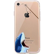 Назначение iPhone X iPhone 8 Чехлы панели Прозрачный С узором Задняя крышка Кейс для Композиция с логотипом Apple Животное Мягкий