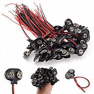 voordelige Arduino-accessoires-9v batterij snap connector clips lead draden houders - zwart (100 stuks)