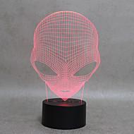 お買い得  USB ガジェット-火星の形の子供のスイッチライトのための3次元視覚led夜光ランプ以外にもUSB充電器テーブルランプ赤ちゃんスリープランプ