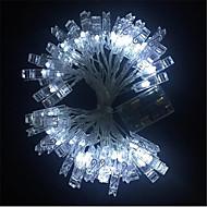 billige LED-kædelys-3M Lysslynger 20 lysdioder Varm hvid / Hvid / Blå <5 V / IP65
