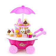 お買い得  おもちゃ & ホビーアクセサリー-アイスクリームカート玩具 自動車おもちゃ 食べ物おもちゃ 船 アイスクリーム用 シミュレーション プラスチック 子供用 男の子 女の子 おもちゃ ギフト 1 pcs