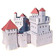 cheap Toys & Hobbies-3D Puzzles Paper Model Model Building Kits Paper Craft Castle Famous buildings House Architecture 3D DIY Classic 6 Years Old and Above