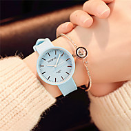Women's Fashion Watch Wrist watch Chinese Quartz Silicone Band Candy color Casual Elegant Minimalist Black White Green Pink Navy