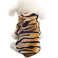 baratos Artigos para Animais-Cachorro Fantasias Casacos Camisola com Capuz Roupas para Cães Animal Marron Flanela Ocasiões Especiais Para animais de estimação Homens