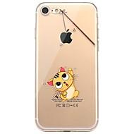 Назначение iPhone X iPhone 8 Чехлы панели С узором Задняя крышка Кейс для Композиция с логотипом Apple Кот Мягкий Термопластик для Apple