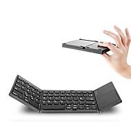 abordables Teclados-Bluetooth 87 Office Keyboard Mini Plegable Con Touch Pad