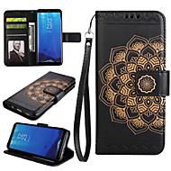 Недорогие Чехлы и кейсы для Galaxy S-Кейс для Назначение SSamsung Galaxy S8 Plus S8 Бумажник для карт Кошелек со стендом Флип Чехол Мандала Твердый Кожа PU для S8 Plus S8 S7