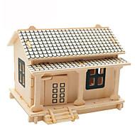 お買い得  おもちゃ & ホビーアクセサリー-3Dパズル ジグソーパズル ウッド模型 飛行機 有名建造物 家 DIY カード用紙 ウッド クラシック 子供用 男女兼用 ギフト