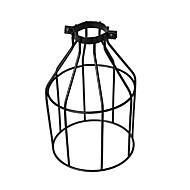 Vintage industrial diy black metal jaula de pájaros sombra de lámpara cubierta de iluminación para luces colgantes luces de pared cubierta