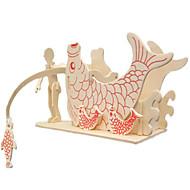 olcso Játékok & hobbi-3D építőjátékok Fejtörő Fishing játékok Wood Model Modeli i makete Halak Bútor 3D DIY Fa Klasszikus Gyermek Uniszex Ajándék
