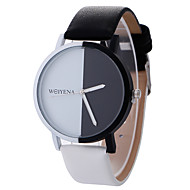 cheap Sport Watches-Women's Wrist Watch / Sport Watch Creative / Cool / Casual Watch Leather Band Charm / Luxury / Casual Black / White