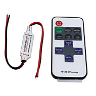 abordables Controladores RGB-hkv® regulador inalámbrico mini led regulador 11key rf control remoto para luces de tira de un solo color dc 5-24v