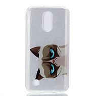 Чехол для lg k10 (2017) k8 (2017) двойной imd чехол задняя крышка чехол кошка шаблон soft tpu