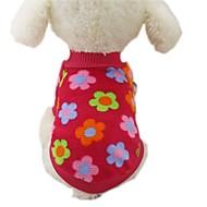 Hund Frakker T-shirt Sweatshirt Hundetøj Stribe Rose Brun Rød Blå Stribe Flannelstof Kostume For kæledyr Herre Dame Afslappet/Hverdag Mode