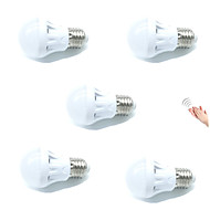 3W E27 LED Smart Bulbs A60(A19) 9 leds SMD 2835 Sensor Sound-Activated Decorative Light Control Warm White Cold White 200lm 2700-6500K AC