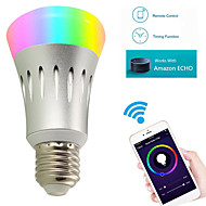 YWXLight® 7W E27/B22 WiFi Smart LED Light Bulb Color Changing Works With Amazon Alexa\Echo