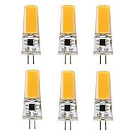 3W LED-lamper med G-sokkel T 1 COB 300 lm Varm hvit Hvit V 6 stk.