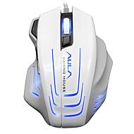 お買い得  マウス-aula 2500dpi 6600fps 80ipsゲームマウス有線ゲームマウス白