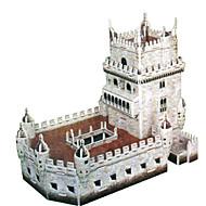 Χαμηλού Κόστους Αξεσουάρ για παιχνίδια και χόμπι-Παζλ 3D Παζλ Kit de Construit Κάστρο Πύργος Διάσημο κτίριο Αρχιτεκτονική 3D Φτιάξτο Μόνος Σου Χάρτινη Κάρτα Κλασσικό Κινούμενα σχέδια