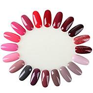10pc 20 exhibición de la rueda de esmalte de uñas uv gel color show tarjeta de plantilla salón de la práctica natural falso uñas consejos