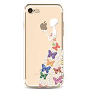 Назначение iPhone 8 iPhone 8 Plus Чехлы панели Прозрачный Задняя крышка Кейс для Композиция с логотипом Apple Бабочка Соблазнительная