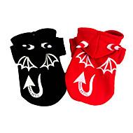 お買い得  ペット用品 & アクセサリー-犬 コスチューム コート 犬用ウェア ハロウィーン 天使&悪魔 ブラック レッド