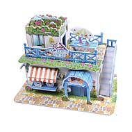 Χαμηλού Κόστους Αξεσουάρ για παιχνίδια και χόμπι-Παζλ 3D Παζλ Χάρτινο μοντέλο Kit de Construit Σπίτι Αρχιτεκτονική Παγωτό 3D Φτιάξτο Μόνος Σου Υψηλής ποιότητας χαρτί Κλασσικό Παιδικά