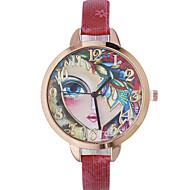 Недорогие Женские часы-Жен. Наручные часы Модные часы Кварцевый Повседневные часы Кожа Группа Богемные Черный Красный Коричневый Золотистый Темно-синий Роуз
