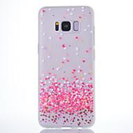 Кейс для Назначение SSamsung Galaxy S8 Plus S8 Матовое Полупрозрачный С узором Задняя крышка С сердцем Мягкий TPU для S8 S8 Plus