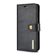 Недорогие Чехлы и кейсы для Galaxy S8-DG.MING Кейс для Назначение SSamsung Galaxy S8 Бумажник для карт / со стендом / Флип Чехол Однотонный Твердый Настоящая кожа для S8 Plus / S8 / S7 edge