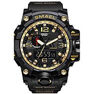 Недорогие Фирменные часы-SMAEL Муж. Спортивные часы Армейские часы электронные часы Японский Цифровой 50 m Защита от влаги Календарь Секундомер PU силиконовый Группа Аналого-цифровые На каждый день Мода / Два года