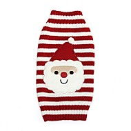 Kat Hond Jassen Truien Hondenkleding Feest Casual/Dagelijks Cosplay Houd Warm Bruiloft Kerstmis Nieuwjaar Stripprint Rood