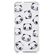 olcso Mobiltelefon tokok-Case Kompatibilitás Asus ZenFone Max ZC550KL Asus Átlátszó Minta Fekete tok Panda Rajzfilm Puha TPU mert Asus Zenfone 3 Max ZC520TL