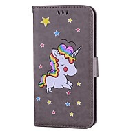 Case For Samsung Galaxy S8 Plus S8 Card Holder with Stand Flip Pattern Full Body Cases Unicorn Glitter Shine Hard PU Leather for S8 Plus
