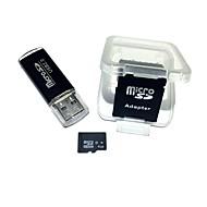 Недорогие Карты памяти-Карта памяти microSDHC 4gb с картой памяти usb и адаптером sdhc sd