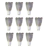 お買い得  LED スポットライト-10個 6W 480lm GU10 LEDスポットライト MR16 1 LEDビーズ COB 温白色 / ホワイト 220-240V