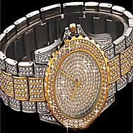 Dame Modeur Armbåndsur Simuleret Diamant Ur Diamantbelagt ur Japansk Quartz Imiteret Diamant Farverig Rustfrit stål Bånd Glitrende Punkt