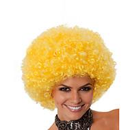 Недорогие Парики из искусственных волос-Парики из искусственных волос Без шапочки-основы Средний Кудрявые Желтый Парик в афро-американском стиле Для темнокожих женщин Парики для