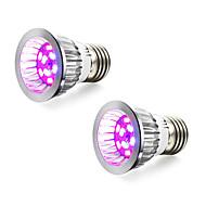 hesapli -2pcs 4W 165-190 lm E14 GU10 E27 LED Büyüyen Işıklar 10 led SMD 5730 Kırmızı Mavi AC 85-265V