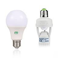 7W E27 Lâmpada Redonda LED 14 SMD 2835 600-700 lm Branco Quente Branco 6000-6500/2800-3200 K Decorativa Sensor do corpo humano V