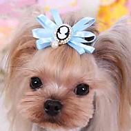 Коты / Собаки Аксессуары для шерсти / Бант Красный / Синий / Розовый Одежда для собак Весна/осень Свадьба / Косплей