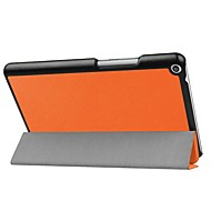 Solid Color Pattern PU Leather Case with Stand for Huawei MediaPad T3 8.0