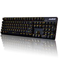 abordables Ratones y Teclados-AJAZZ AJAZZ-AK52 Con Cable luz de fondo monocromático Interruptores azules 104 Teclado mecánico Retroiluminado Programable