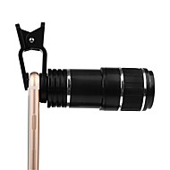 Kamera-Objektiv-Clip-Kit Universal-optisches Zoom-Objektiv 12-fach Zoom Handfokus abnehmbares Teleskop Clip-on Kamera Teleobjektiv für