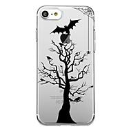 Für 7plus Telefonkasten transparente Muster rückseitige Abdeckungsfallbaum halloween weiches tpu für iphone 7 6splus 6plus 6 6s 5 5s se